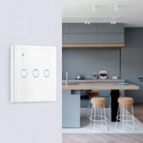 Smart WiFi Light Switch (EU Standard) Works with Google Home Alexa Echo/1Gang/2Gang/3Gang