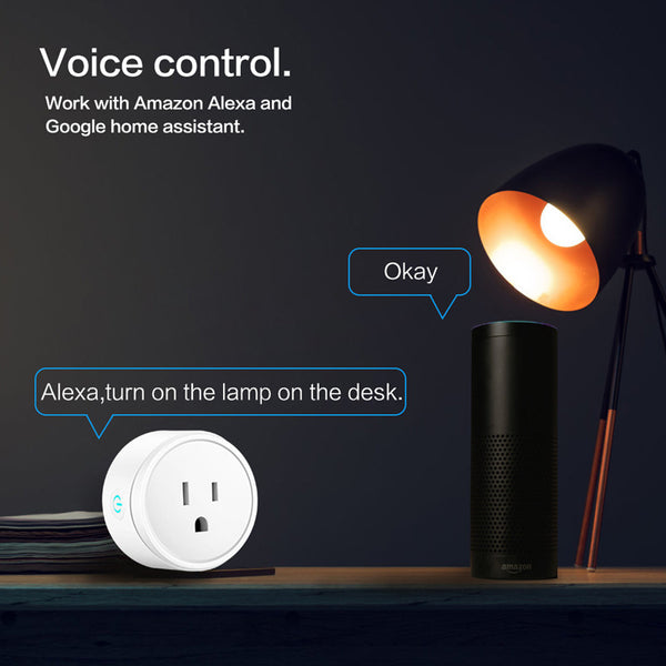 Smart WiFi Power Socket (US Standard) works with Google Home Alexa Echo  ST100-US