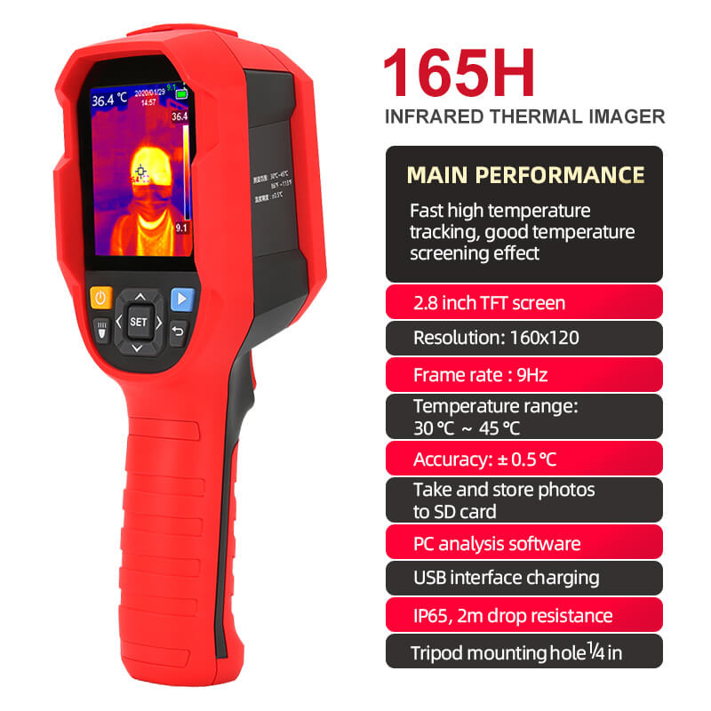 (ON STOCK)UTi165H Infrared Thermal Imaging Thermometer, Handheld meansurement tool for humanbody