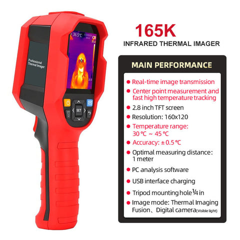 UTi165K Infrared Thermal Imaging Thermometer, realtime tracking and monitoring