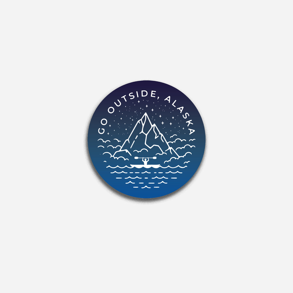 Go Outside Alaska kayaker Sticker