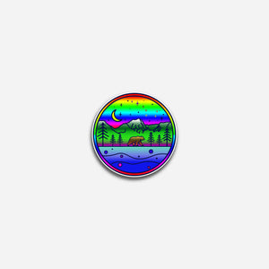 Mt. Alice 'n Bear Rainbow Sticker