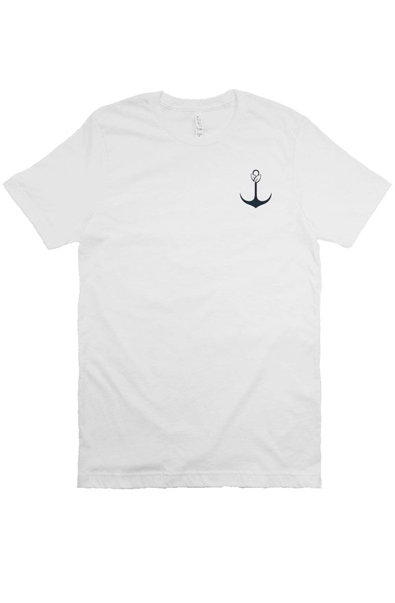 White Navy Bella Canvas T Shirt