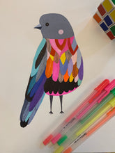 Load image into Gallery viewer, Colourful bird no 5