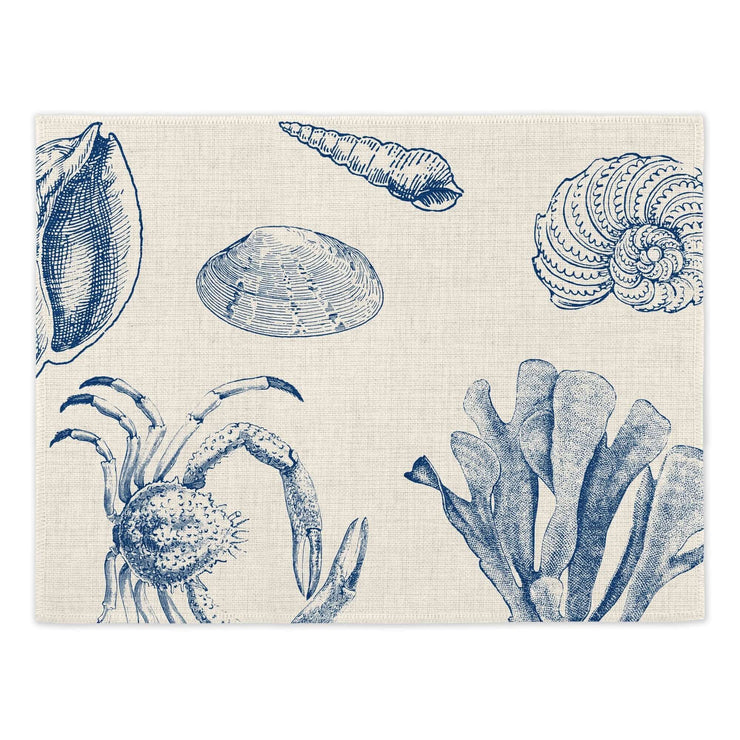 Antiquarian Sealife Placemats - Placemats  Mustard and Gray Ltd Shropshire
