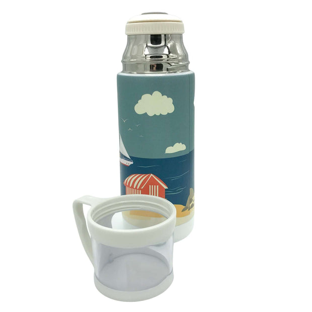 Charlie's Coast Vintage Style Flask -   Mustard and Gray Ltd Shropshire