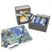 Darwin's Menagerie Pattern Navy Napkins (Set of Four) - Napkins  Mustard and Gray Ltd Shropshire