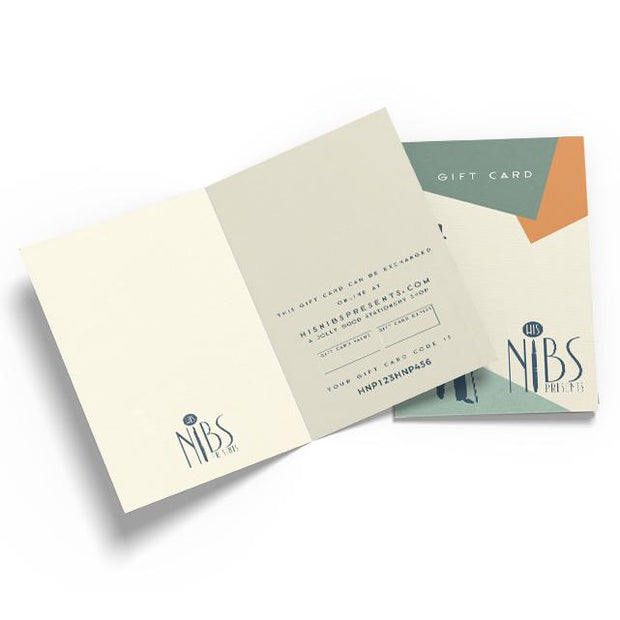 His Nibs Presents... Gift Card - Gift Card  Mustard and Gray Ltd Shropshire
