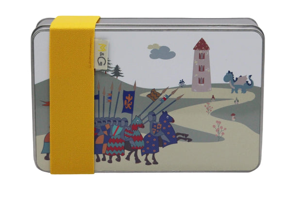 Knights at Dragon Castle Lunch Box - Childrens Bottles & Tins  Mustard and Gray Ltd Shropshire