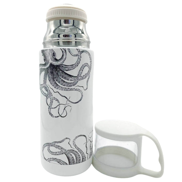 Kraken Can Can Vintage Style Flask -   Mustard and Gray Ltd Shropshire