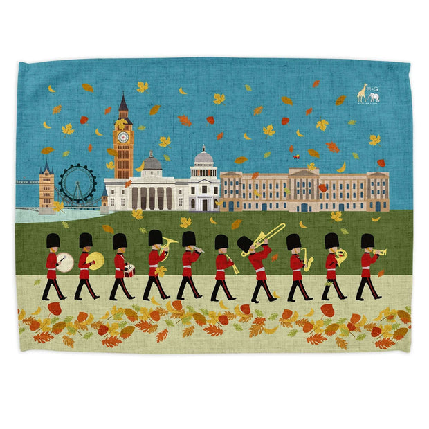 London Seasons Autumn Tea Towel - Tea Towels  Mustard and Gray Ltd Shropshire