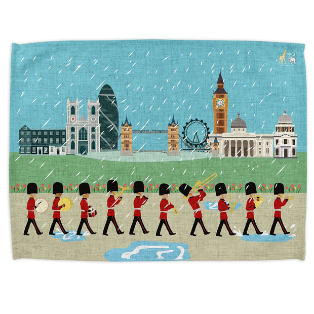 London Seasons Spring Tea Towel - Tea Towels  Mustard and Gray Ltd Shropshire
