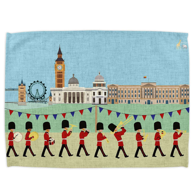 London Seasons Summer Tea Towel - Tea Towels  Mustard and Gray Ltd Shropshire