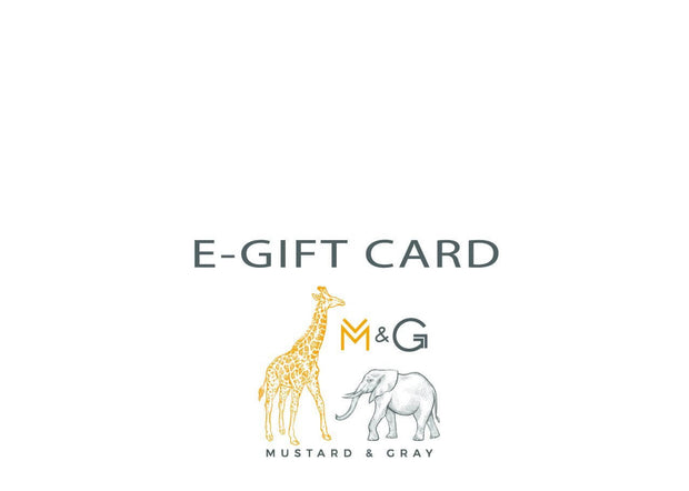 Mustard and Gray E-Gift Card - Gift Card  Mustard and Gray Ltd Shropshire