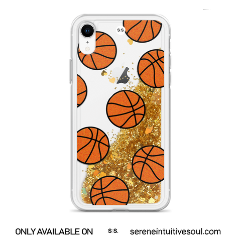 Basketball Glitter iPhone Case