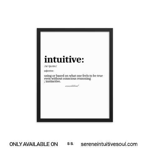 Intuitive Definition Framed Print