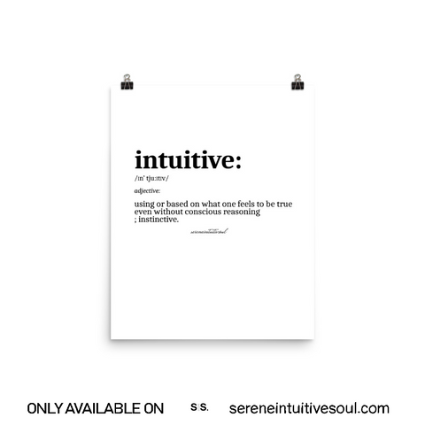 Intuitive Definition Print