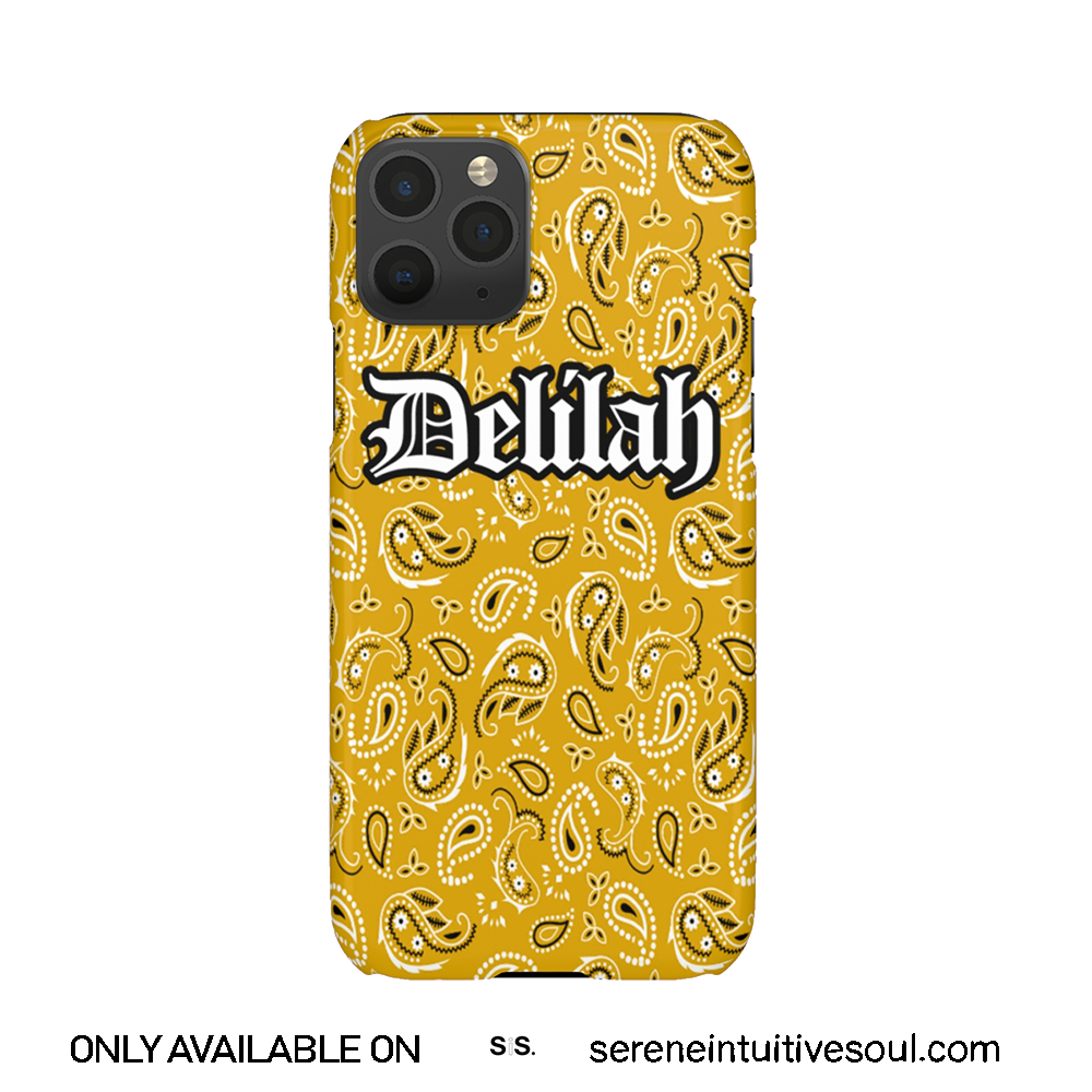 Yellow Bandana Print Personalised Phone Case
