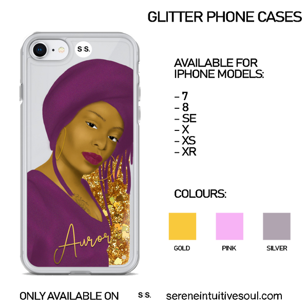 PERSONALISE ME - Glitter iPhone Case
