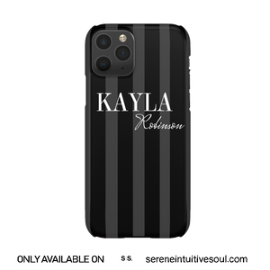 Black Stripes Personalised Phone Case