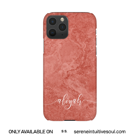 Peach Marble Personalised Phone Case