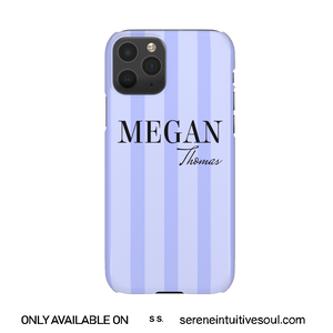 Blue Stripes Personalised Phone Case