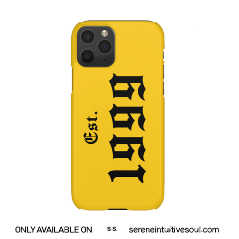 Yellow Est. Birth Year Personalised Phone Case