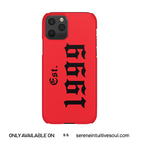Red Est. Birth Year Personalised Phone Case
