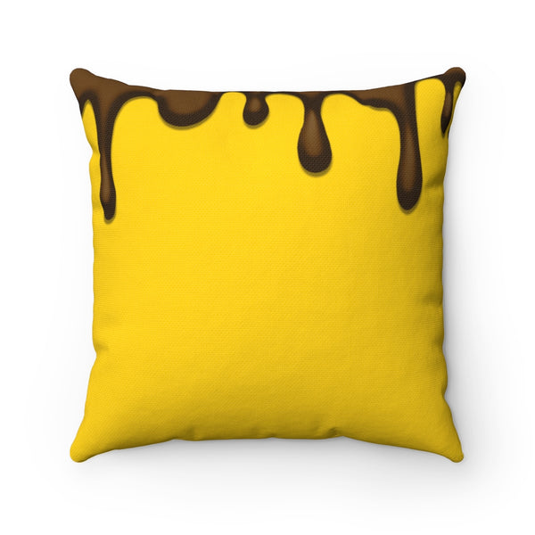 Drippin' In Melanin Magic Square Pillow Cushion