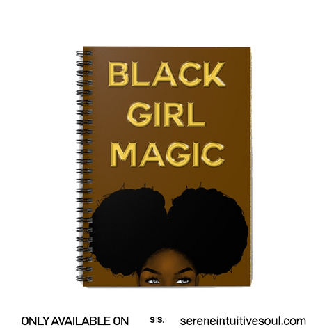 Black Girl Magic Spiral Notebook