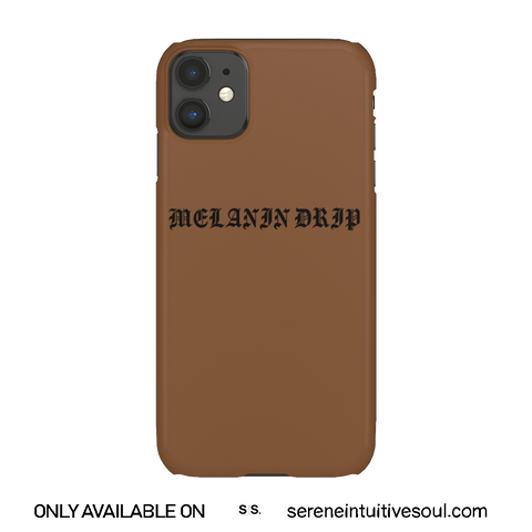 Melanin Drippin' Phone Case - in Mocha