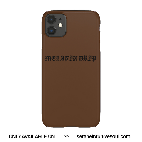 Melanin Drippin' Phone Case - in Chocolate
