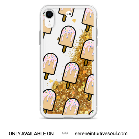 Vanilla Ice Lolly Glitter iPhone Case