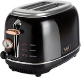 Tower Bottega T20016 2 Slice Toaster, Stainless Steel