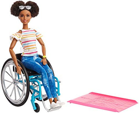 Barbie GGV48 Doll and Wheelchair, Brunette