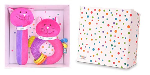 Fiesta Crafts Cat Baby Ringaling Toys Gift Set