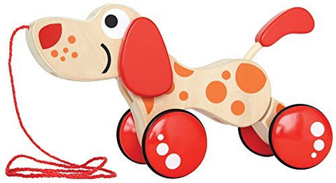 Hape Walk-A-Long Puppy Wooden Pull Toy, E0347