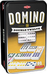 Tactic 53915 Double 12 Domino Game, One Colour