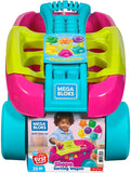 Mega Bloks FVJ48 Shape Sorting Wagon Bricks, Pink