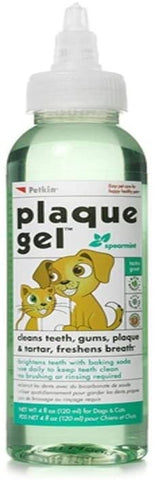 2 X Petkin Plaque Teeth Cleaning Gel Mint Flavour