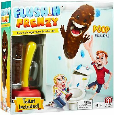 Mattel Frenzy Childrens Poop Flushing Toilet Game