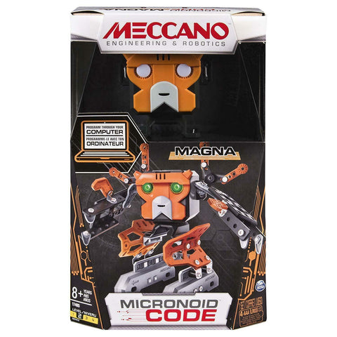 Meccano Robot MAGNA Robot Building KIT, Orange