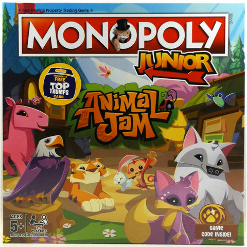 Monopoly Junior Animal Jam Board Game 2-4 Players