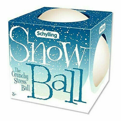 Schylling Adorable Snow Ball Crunch Stress Ball