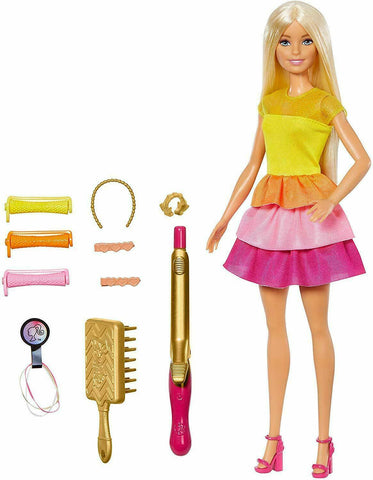 Barbie Ultimate Curls Hair Styling Doll No Heat