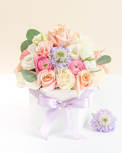 Fresh Flower Arrangement in a Signature Box - Pastel Garden