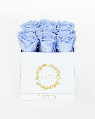 9 Eternity Roses in Custom Box - Small Square