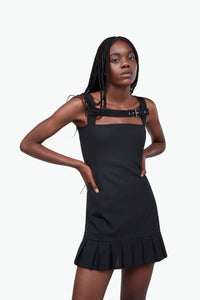 Buckle Pleat Dress