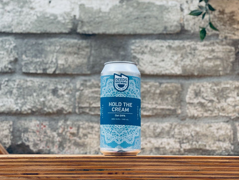 Deeds Brewing Hold The Cream Oat DIPA (440ml)
