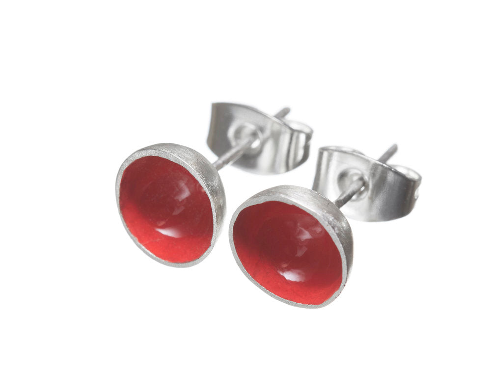 Red Pod Earrings